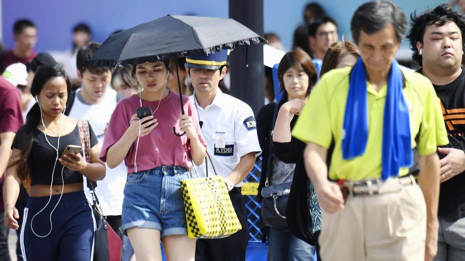 Auch Anfang September herrscht in Tokio noch brütende Hitze.