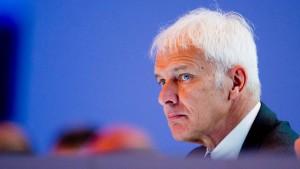 VW-Chef Müller scheut Reise nach Amerika