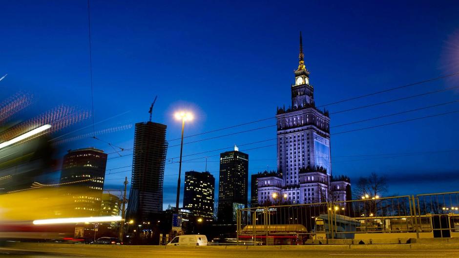 Der Kulturpalast in Warschau