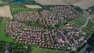 Ein Wohngebiet mit Einfamilienhäusern in Sarstedt bei Hannover