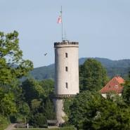 Und es gibt sie doch: Turm der Sparrenburg in Bielefeld
