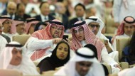 """Saudische Teilnehmer der Investorenkonferenz """"Future Investment Initiative"""""""