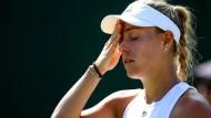 Verzweifelung: Kerber nach dem frühen Aus in Wimbledon dieses Jahr