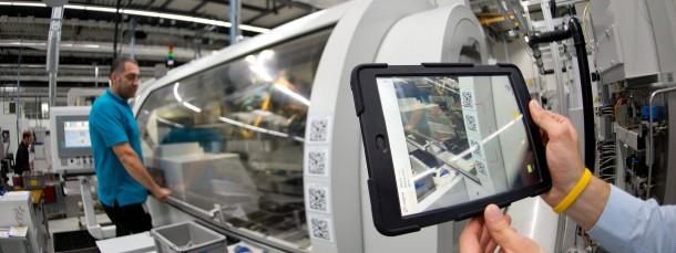 Industrie 4.0 - mit Tablet