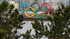 Gigantische Olympische Ringe