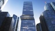 Hochhausturm der Moderne, aufgebrochen: So soll der Omniturm in Frankfurt einmal aussehen.