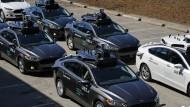 Flotte von Roboterautos von Uber im September 2016