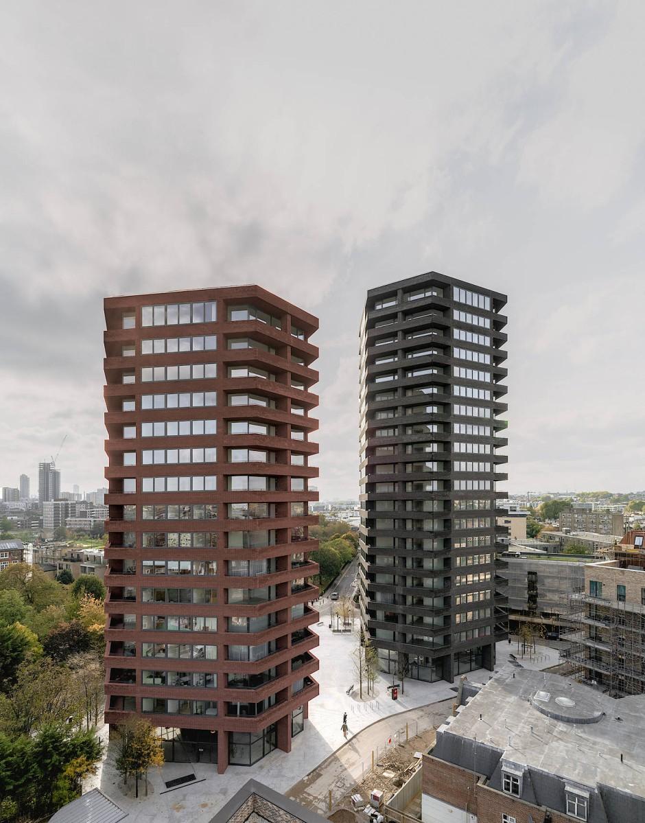 Cashcows für das Viertel: Durch die beiden privat vermarkteten Türme nach Plänen von David Chipperfield soll im Umfeld bezahlbares Wohnen finanziert werden.