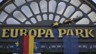 Eingangsbereich des Europa-Parks in Rust