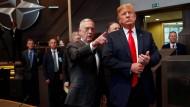 Nicht mehr auf dem Weg in dieselbe Richtung: James Mattis und Donald Trump