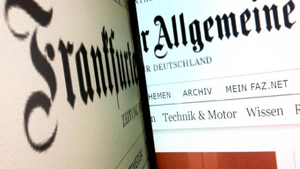 Relaunch FAZ.net - Der Internet-Auftritt der Frankfurter Allgemeinen Zeitung erscheint im erneuerten grafischen Gewand von der Agentur Kircher und Burckardt
