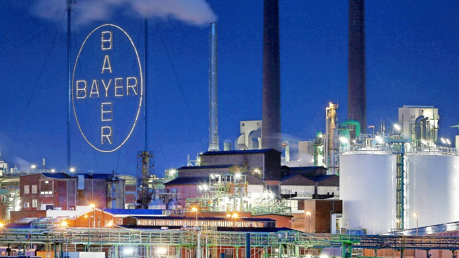 Die Bayer-Zentrale in Leverkusen