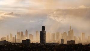 Spektakuläre Sicht auf die Skyline