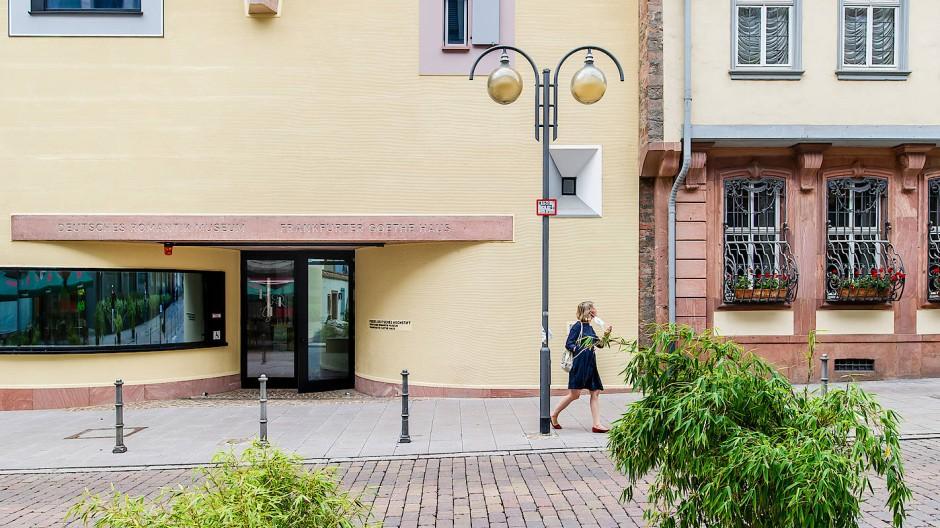 Gebauter Traum: Das Deutsche Romantikmuseum (links) neben dem Goethehaus am Großen Hirschgraben in Frankfurt.