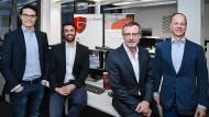 Die Dataguard-Gründer Thomas Regier, Kivanç Semen, Markus Fisseler und Reinhard Gorenflos (v.l.n.r.)