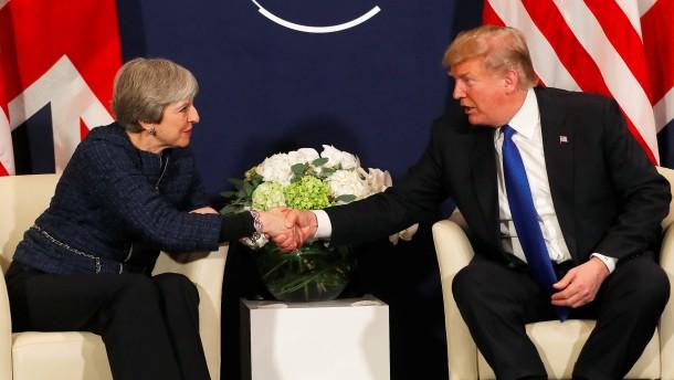Trump sucht Nähe zu May