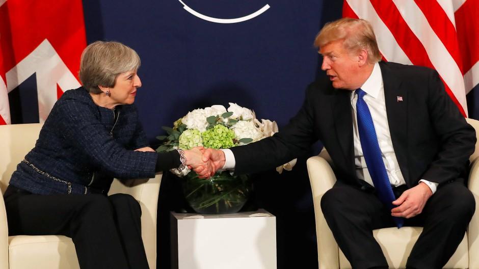 """""""Eine besondere Beziehung"""" verbinde Großbritannien und die Vereinigten Staaten, so Trump über das Treffen mit Theresa May."""