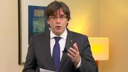 Puigdemont fordert Freilassung von Regierungsmitgliedern