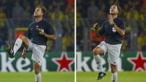 Schiedsrichter mit hellen Hosen: Olegario Benquerenca beim Spiel zwischen Dortmund und Arsenal