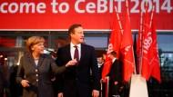 Merkel und Cameron eröffnen Cebit