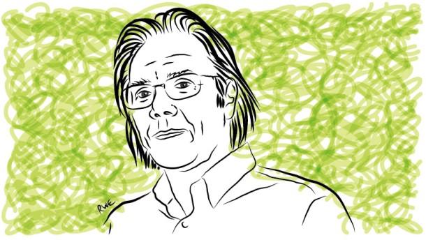 Kopie von Illustration Harald Welzer grün