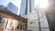 Sitz des Telefonunternehmens Belgacom – der Börsengewinner des belgischen Aktienmarktes
