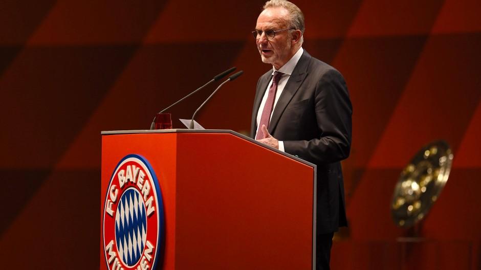 Verspricht sich viel vom professionellen Zocken an der Konsole: Bayern-Vorstandschef Karl-Heinz Rummenigge.
