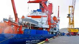 """Deutsches Forschungsschiff """"Polarstern"""" sticht in See"""