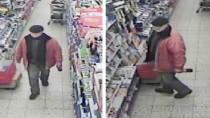 Mit diesen Fahnungsfotos suchte die Polizei nach dem Supermarkträuber von Hannover.