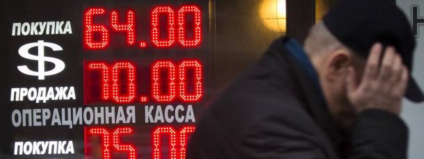 Bodenlos: die Währungskrise in Russland macht deutschen Unternehmen schwer zu schaffen