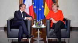 Welche Zusagen machen Merkel und Macron?