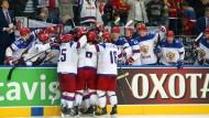 Dürfen sich endlich freuen: die russischen Spieler und ihre Fans