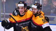 Drei Tore gegen die Letten: Frederik Tiffels (links)