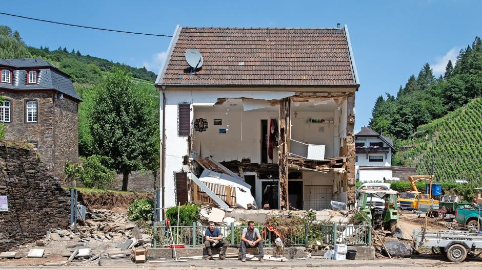 Wenn das Wasser alles raubt: Dieses Haus in Marienthal an der Ahr wurde von den Fluten zerstört.