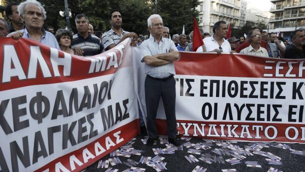 Heftige Kurskapriolen in Athen