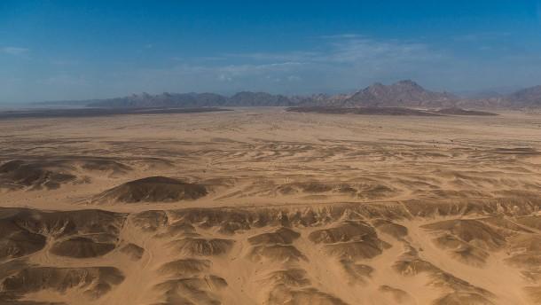 Eine Megastadt im Wüstensand