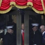 Washington, am Freitagmorgen, kurz vor dem Beginn der Zeremonie