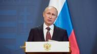 Gibt sich verständnisvoll: der russische Präsident Wladimir Putin auf Besuch in Ungarn.