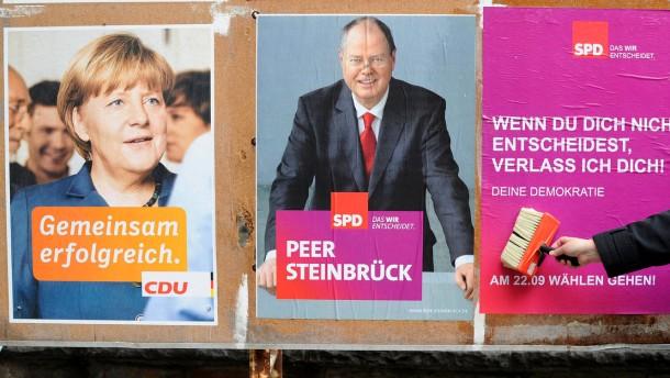 Plakatwerbung für Wahlbeteiligung