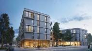 Schmetterlinghaus für das Neubaugebiet Hilgenfeld? Schneider + Schumacher haben bei ihrem Projekt die Erschließungsflächen minimiert.