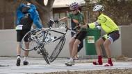 Ein Radrennen vom Winde verweht