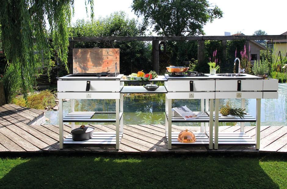Outdoorküche Garten Edelstahl Kosten : Kochen im garten outdoor küche und grills