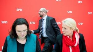 Schwesig will Nahles möglichst schnell zur Vorsitzenden machen