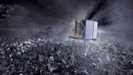 Lautlos im Weltraum: Die Darmstädter Kontrollzentrale hat den Kontakt zum Landeroboter Philae verloren.