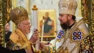 Patriarch Bartholomäus I. und der Kiewer Metropolit Epiphanius