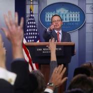 Hat er sich nur versprochen? Mulvaney am Donnerstag vor Reportern im Weißen Haus
