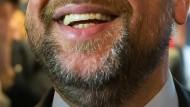 Schaut auf diesen dynamischen Bart: Martin Schulz