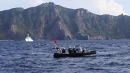 Japanische Küstenwache auf Patrouille vor Uotsuri im Ostchinesischen Meer (2014)