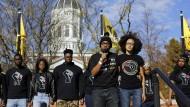 Wortführer des Protests: Aktivisten an der Universität Missouri