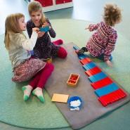 Spielen und lernen: Im Montessori-Kinderhaus am Elsässer Platz in Wiesbaden.